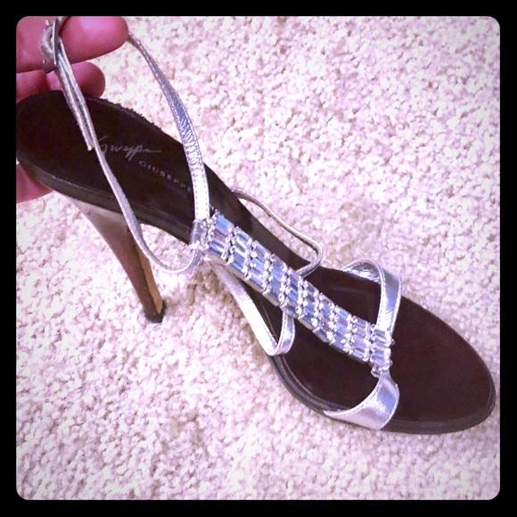 c3750da30 Giuseppe Zanotti Shoes - Silver Rhinestone Ankle Wrap Strappy Sandal - 37